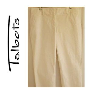 Talbots ankle length white pants